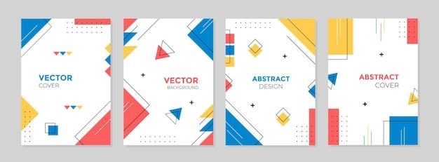 Set van abstract creatief geometrisch omslagontwerp