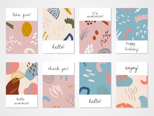 Set van abstract hand getrokken ontwerp.