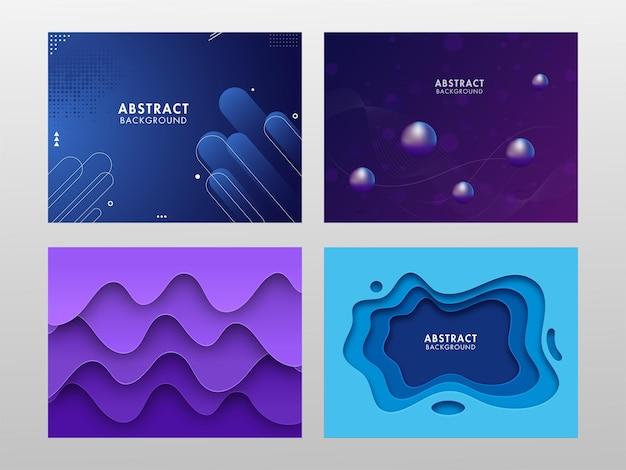 Set van abstracte achtergrond met verschillende stijl