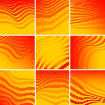 Set van abstracte achtergrond sjabloon vectoren