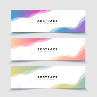 Set van abstracte achtergrond