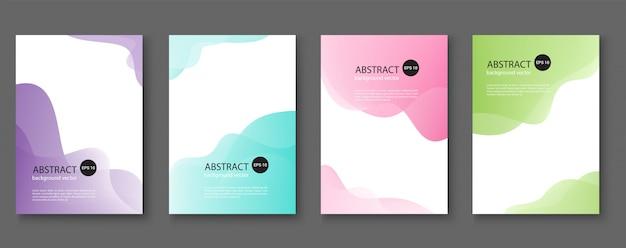 Set van abstracte achtergronden met lijngolven