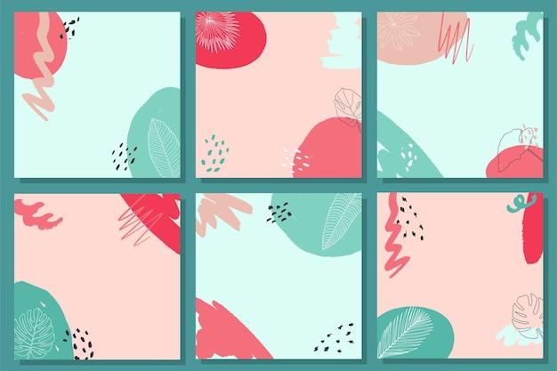Set van abstracte achtergronden social media banners