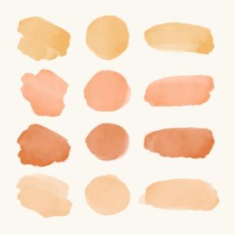 Set van abstracte aquarelslagen