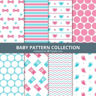 Set van abstracte babypatronen