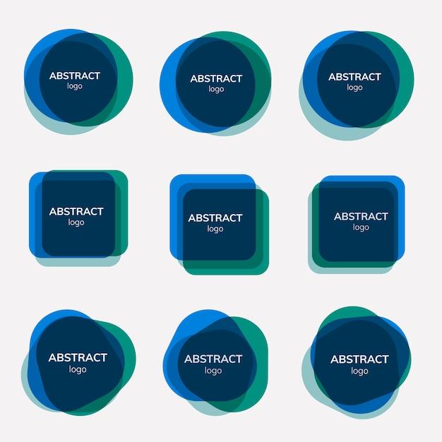 Set van abstracte badgeontwerpen