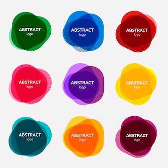 Set van abstracte badges