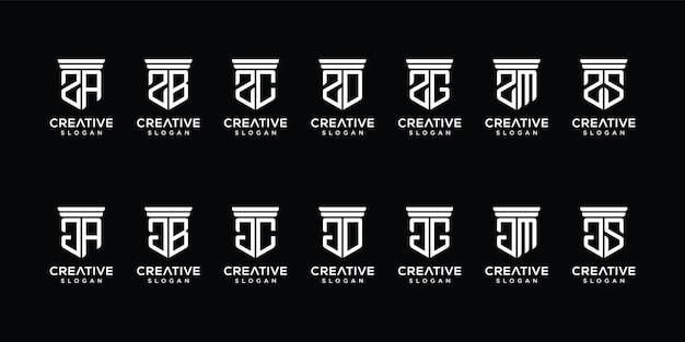 Set van abstracte briefsjabloon logo