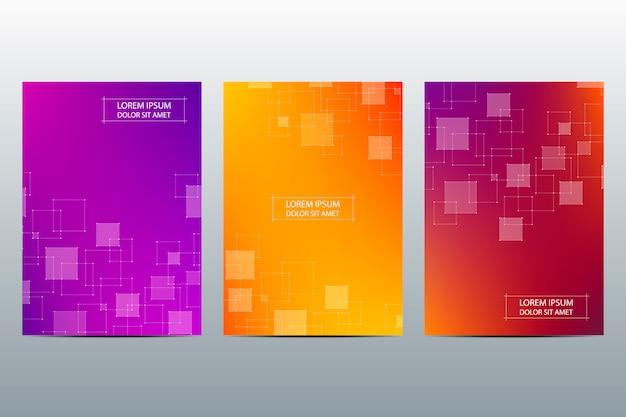 Set van abstracte covers sjabloon