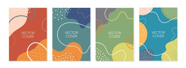 Set van abstracte creatieve artistieke sjabloon voor omslagontwerp