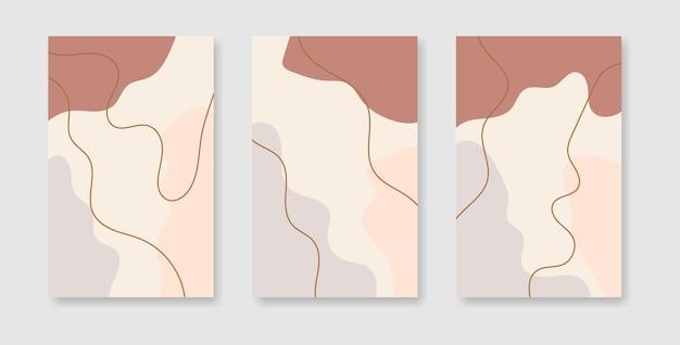 Set van abstracte creatieve universele cover ontwerpsjablonen