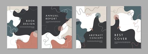 Set van abstracte creatieve universele cover ontwerpsjablonen.
