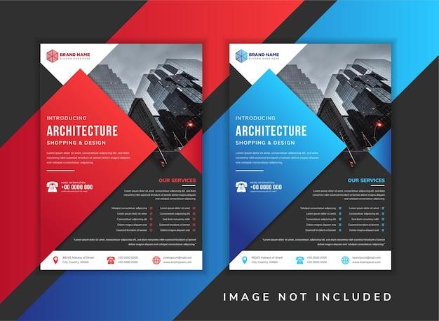 Set van abstracte flyer sjabloonontwerp.
