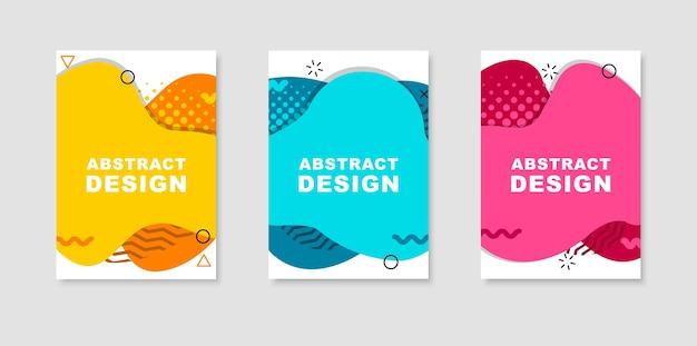 Set van abstracte flyer