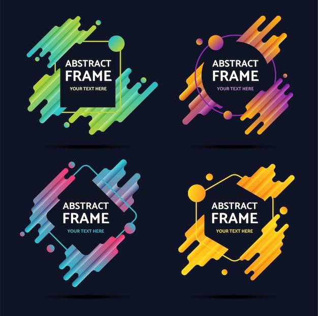 Set van abstracte frame moderne elementen