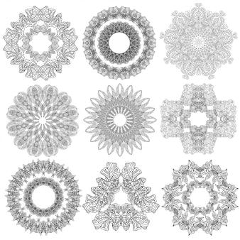 Set van abstracte geometrische elementen en vormen