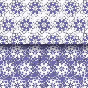 Set van abstracte geometrische patronen