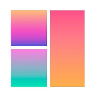 Set van abstracte gradiënt achtergronden