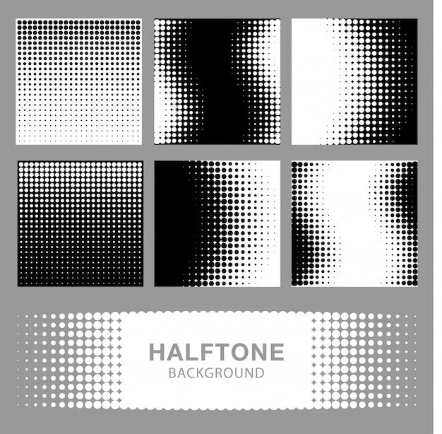 Set van abstracte halftoon achtergronden.