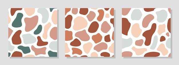 Set van abstracte hedendaagse naadloze patronen. moderne trendy vectorillustratie.