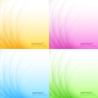 Set van abstracte kleurrijke lichte achtergronden. illustratie