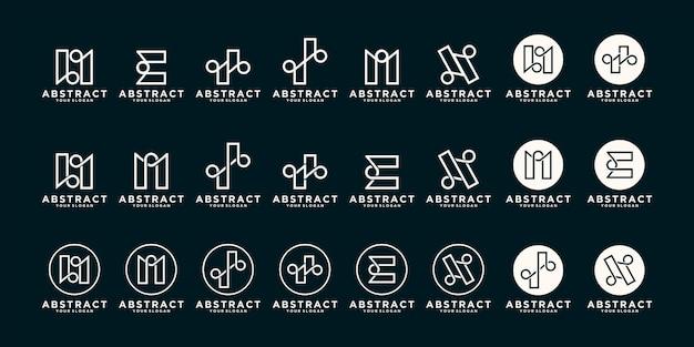 Set van abstracte logo, pictogrammen voor bedrijven