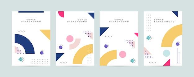 Set van abstracte memphis cover