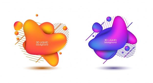 Set van abstracte moderne grafische elementen