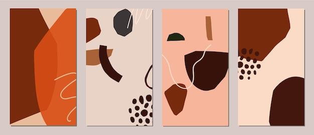 Set van abstracte moderne kaarten