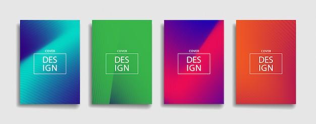 Set van abstracte moderne verloop voorbladsjabloon