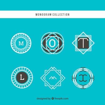 Set van abstracte monogrammen