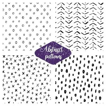 Set van abstracte naadloze patronen