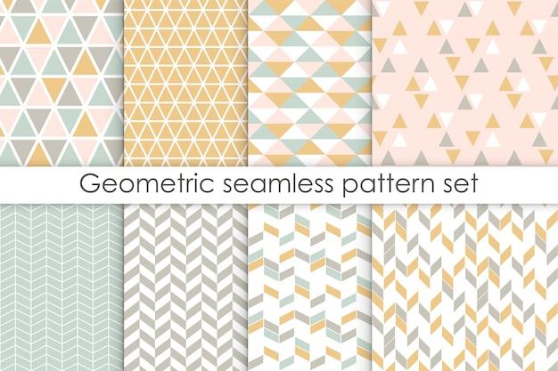 Set van abstracte naadloze patronen.