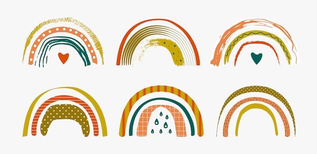 Set van abstracte regenbogen