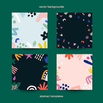 Set van abstracte sjablonen