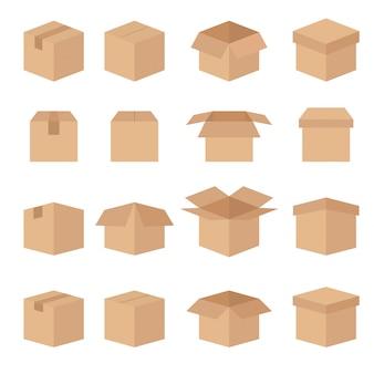 Set van abstracte vak vector lijn pictogrammen