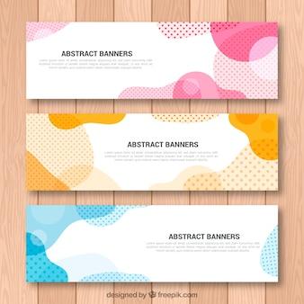 Set van abstracte vormen banners