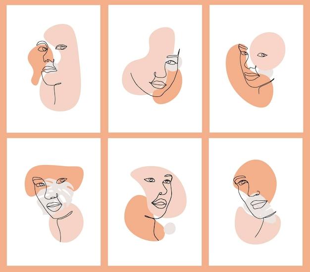Set van abstracte vrouwen prints