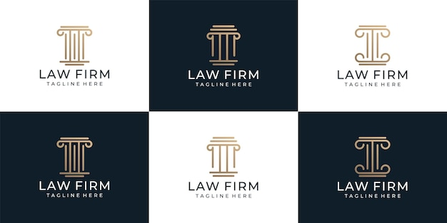 Set van advocatenkantoor logo