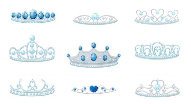 Set van afbeeldingen van tiara's