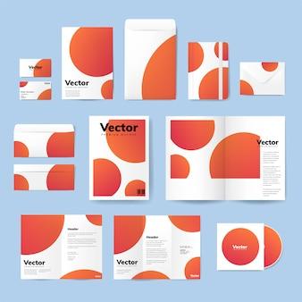 Set van afdrukken materiaalontwerpen mockup vector