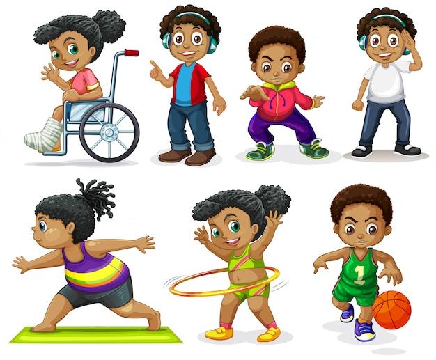 Set van afrikaanse karakters