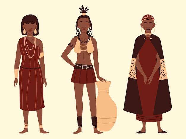 Set van afrikaanse vrouwen