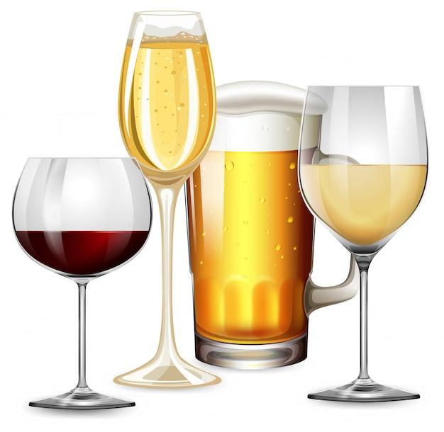 Set van alcoholische dranken