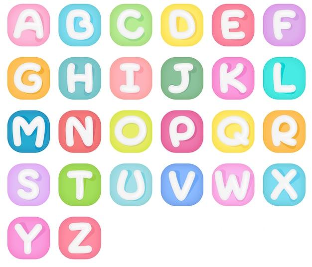Set van alfabet iconen.