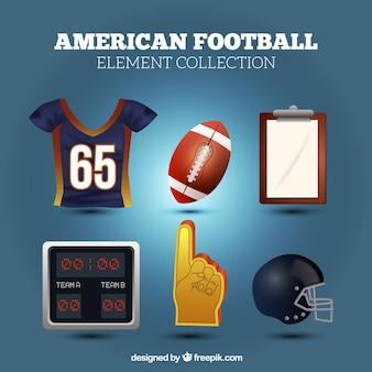 Set van american football elementen