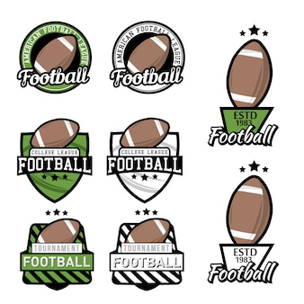Set van amerikaans voetbalkampioenschap, toernooi ontwerpelementen.