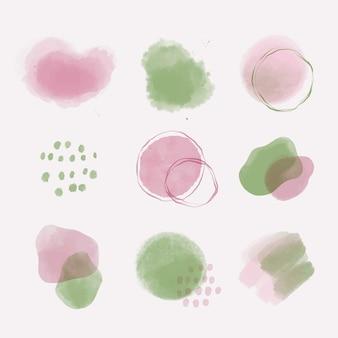 Set van aquarel abstracte vormen