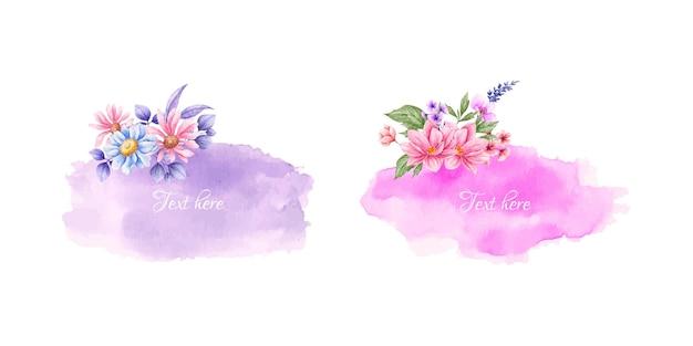 Set van aquarel mooie bloemen