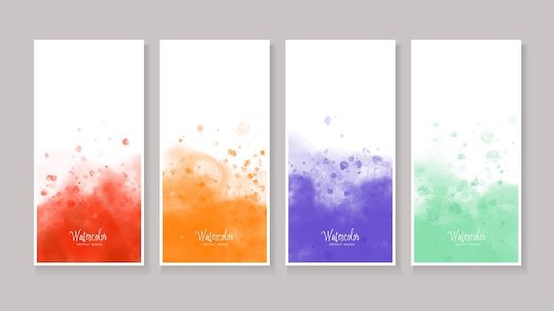 Set van aquarel vlekken textuur abstracte banner